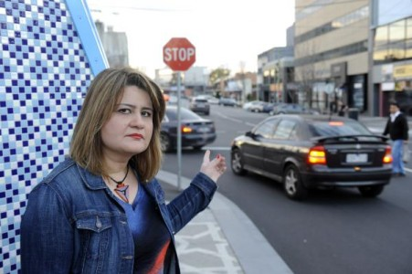 Lamis Albyati is calling for lights at the Scott and Thomas streets intersection. 126034 Picture: