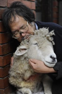 Vu Ho with an ailing Baa in June 121275 Picture: STEWART CHAMBERS