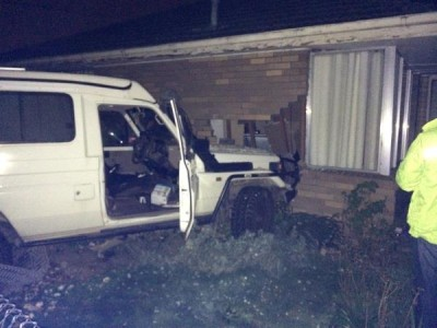 This vehicle crashed into a Springvale South home on Friday night.