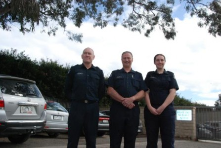 Senior Constable Peter Evans, Sergeant Max Walker and Constable Laura Wood. 127189