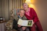 Neil and Shirley Lowe with a congratulatory letter from the Queen marking their diamond wedding anniversary. 136382 Picture: GARY SISSONS