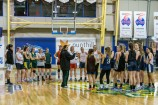 Rangers coach Larissa Anderson puts the next generation through their paces at the WNBL Development Squad tryout on Wednesday. 141201 Picture: GARY SISSONS