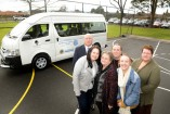 David Daff, Tracey Blackledge, Shirley Daff, Sharon Daff, Maddison Blackledge and Deidre Cameron after the bus was officially donated to the Emerson School. 141467 Picture: ROB CAREW