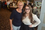 Tammy Van Wisse with Youth Enterprise Award nominee Courtney Pastean.