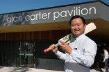 City of Greater Dandenong Mayor Heang Tak officially opened the redeveloped Alan Carter Pavilion on Saturday. 149894 Picture: GARY SISSONS
